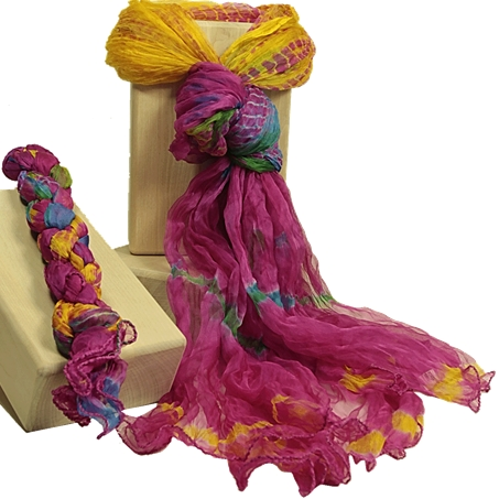 Indischer Tie Dye Schal
